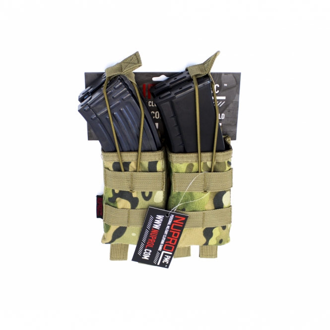 Nuprol PMC AK Double Open Mag Pouch - NP Camo