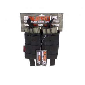 PMC M4 Double Open mag Pouch - Black