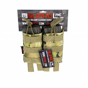 PMC M4 Double Open Mag Pouch - NP Camo