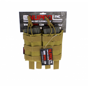 PMC M4 Double Open Mag Pouch - Tan