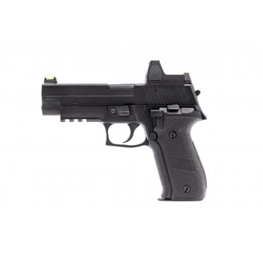 Nuprol Raven R226 GBB Pistol - Black with Red Dot Sight