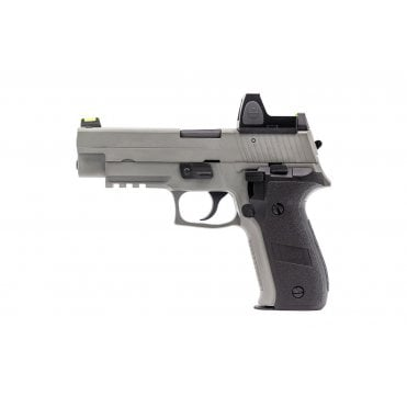 Nuprol Raven R226 GBB Pistol - Grey with Red Dot Sight