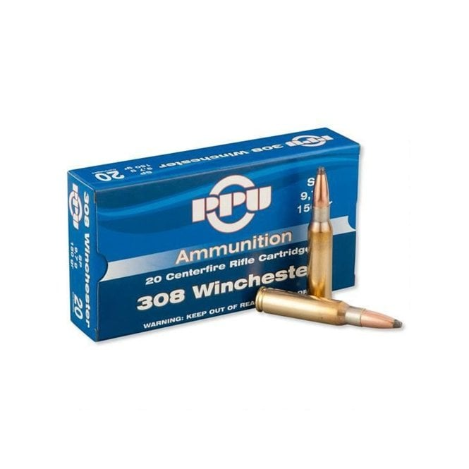 PPU .308 Winchester Cal 150gr Soft Point 20Box