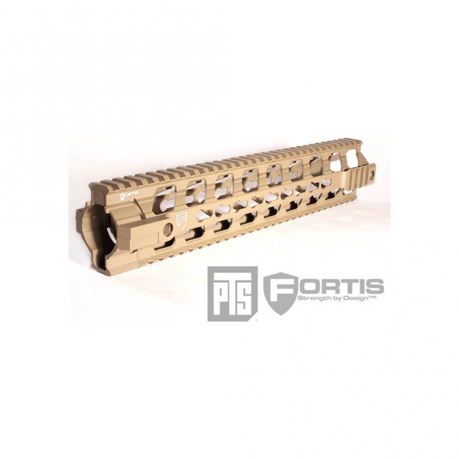 """PTS Syndicate Airsoft PTSå¨ Fortis Float Rail System 12"""" Inch Dark Earth"""