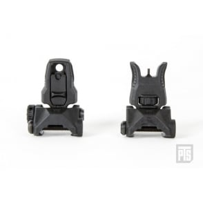 PTS Enhanced Polymer Back Up Iron Sight Set (EP BIUS) Front & Rear - Black