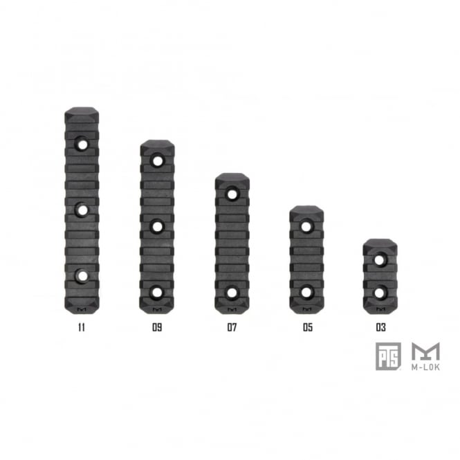 PTS Syndicate Airsoft PTS Enhanced Rail Section‰ ERS‰ - M-LOK 5 SLOT