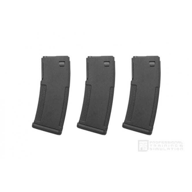PTS Syndicate Airsoft PTS EPM ERG Magazine Black (3 Pack) 2018 Version