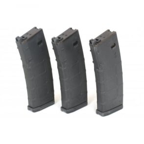 PTS KWA 38 Round PMAG GBB Magazine for LM4 / M4 / Mega Arms MKM - 3 Pack