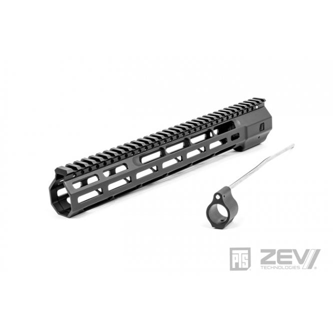 "PTS Syndicate Airsoft ZEV Wedge Lock 12"" Rail - Black"