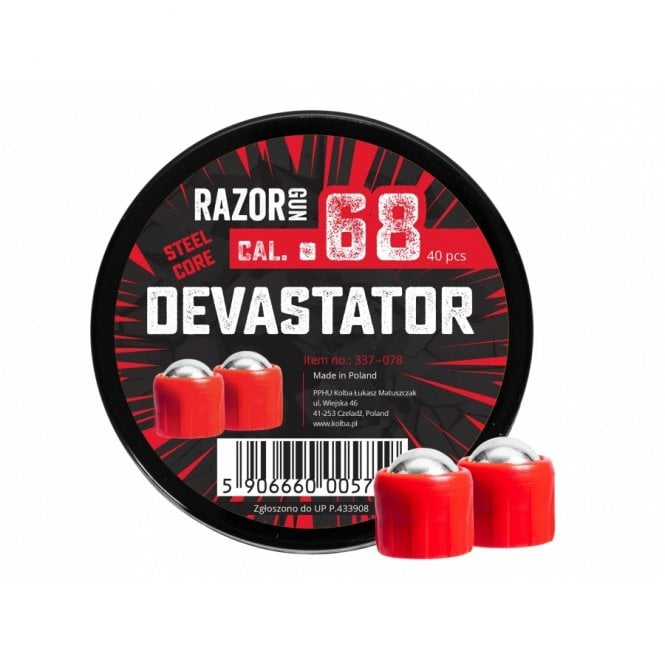 Razor Gun Paintball Marker Devastator Rounds - .68 Cal - 40pcs