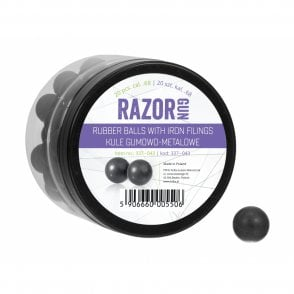 Razor Gun Paintball Marker Extra Heavy Rubber Rounds .68 Cal - 20pcs