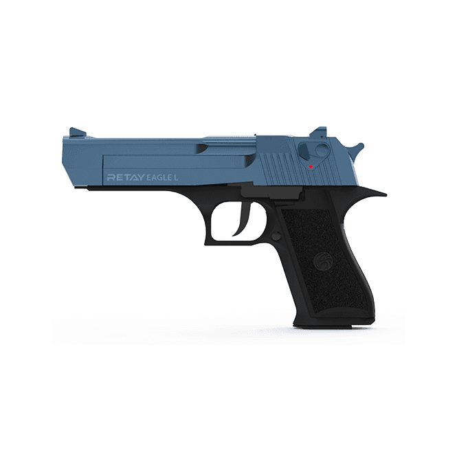Retay Eagle L 9mm Blank Firing Pistol - Black / Blue