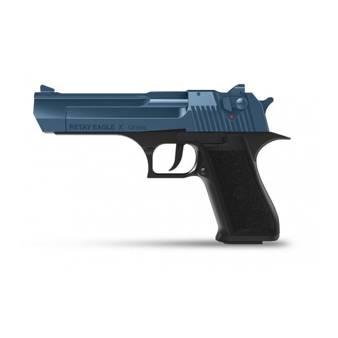 Retay Eagle X 9mm Blank Firing Pistol - Black / Blue