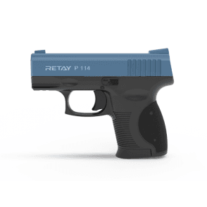Retay P114 9mm Blank Firing Pistol - Black / Blue
