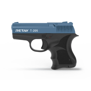 Retay T-205 8mm Blank Firing Pistol - Black / Blue