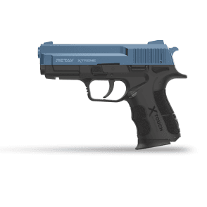 Retay Xtreme 9mm Blank Firing Pistol - Black / Blue