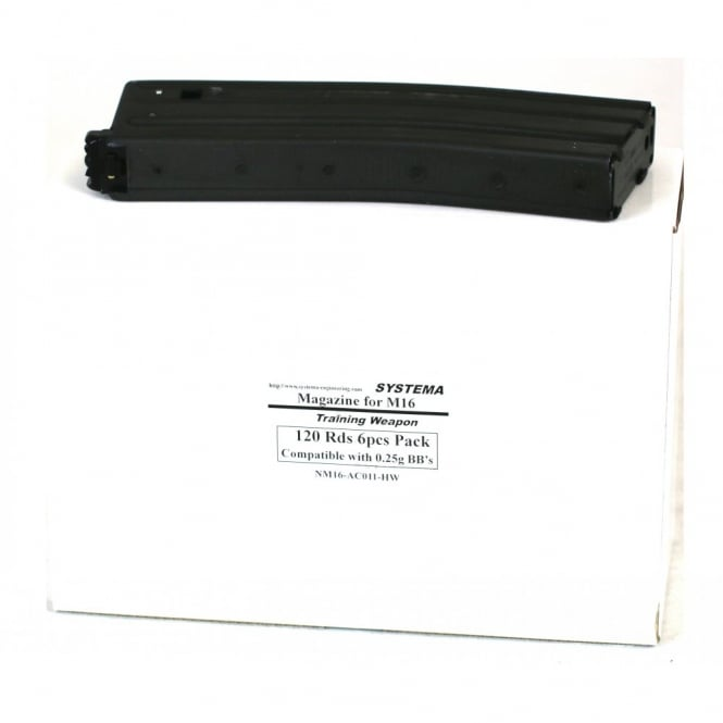 Systema PTW 120 Round Magazines 6 Pack