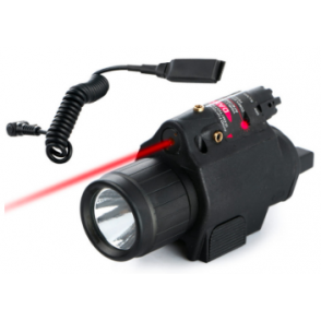 Tactical Flashlight and Red Laser for pistol