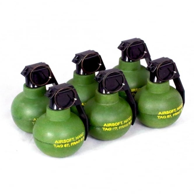 Tactical Game Innovations TAG Innovation TAG-67 Airsoft BB Shrapnel Grenade - Pack of 6
