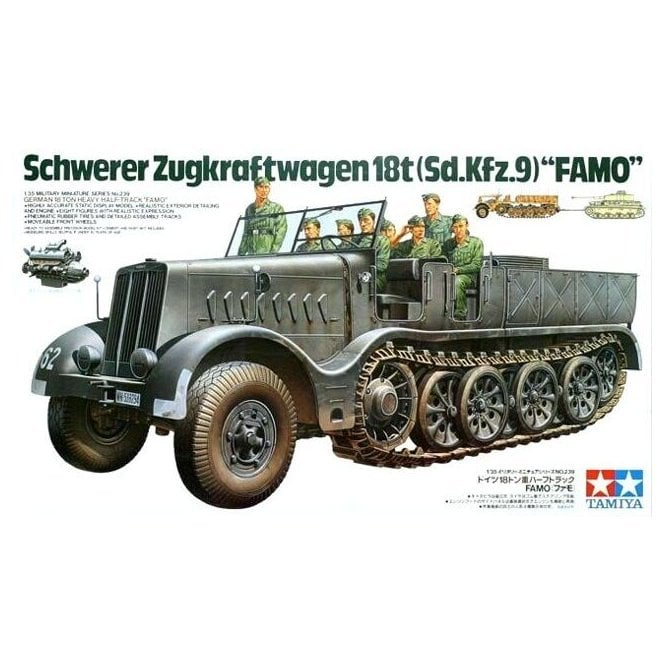 Tamiya 1/35 German 18 Ton Half-Track Famo Model Kit
