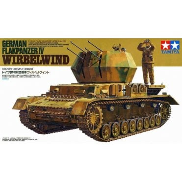 Tamiya 1/35 German Flakpanzer Wirbelwind AA Gun Model Kit