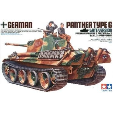 Tamiya 1/35 German Panther G Late Version Tank Model Kit