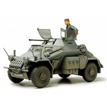 Tamiya 1/35 German WWII SD.KFZ 222 Armoured Car W/Photo Etched Part Model Kit