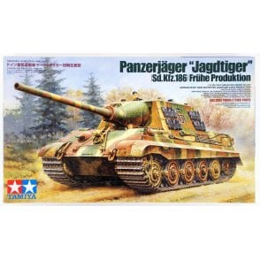 Tamiya 1/35 Jagdtiger Sd.Kfz.186 German Tank Model Kit
