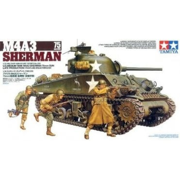 Tamiya 1/35 U.S. M4A3 Serman Tank with 75mm Gun - Late WWII Model Kit