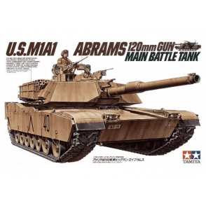 Tamiya 35158 US Army M1A1 Abrms with Mine Plough Model Kit