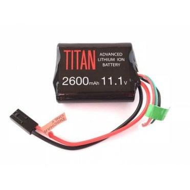 Titan Power 11.1v 2600mAh Li-Ion Brick Battery - Tamiya Connection