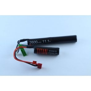 Titan Power 11.1v 2600mAh Li-Ion Nunchuck Battery - Deans Connection