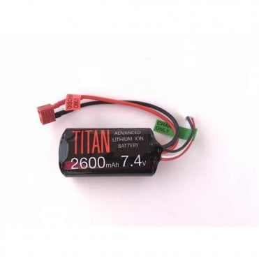 Titan Power 7.4v 2600mAh Li-Ion Brick Battery - Deans Connection