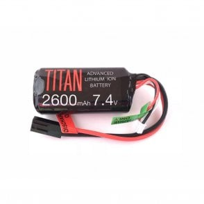 Titan Power 7.4v 2600mAh Li-Ion Brick Battery - Tamiya Connection