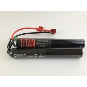 Titan Power 7.4v 7000mAh Li-Ion Nunchuck Battery - Deans Connection