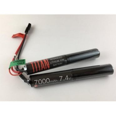 Titan Power 7.4v 7000mAh Li-Ion Nunchuck Battery - Tamiya Connection