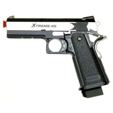 Tokyo Marui XTreme .45 GBB Full Auto Gas Blowback Pistol - Silver