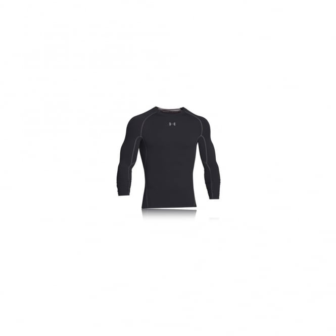 Under Armour Heatgear Armour L/S Compression Tee-Black