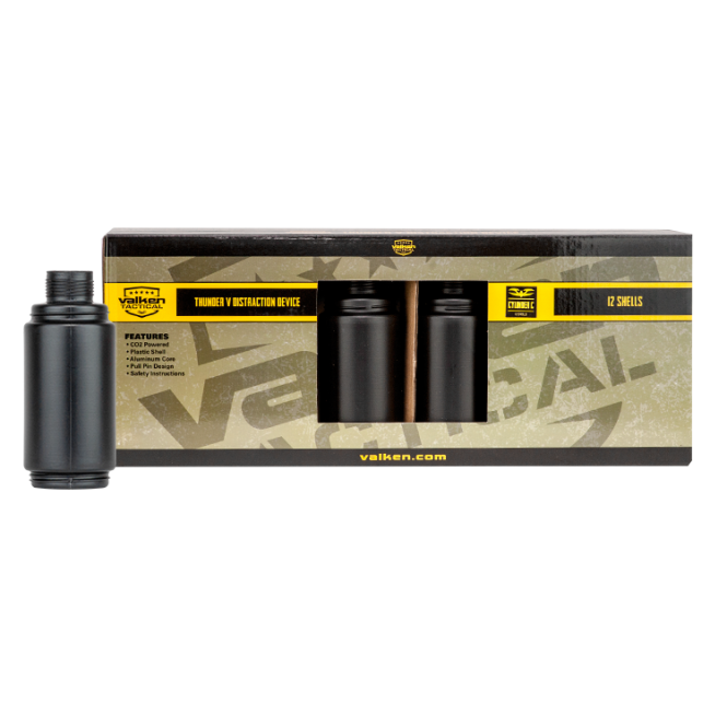 Valken V-Tactical Thunder V Distraction Device 12pk Shell Only - 'Cylinder C'