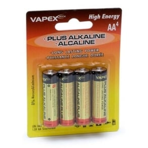 Vapex Alkaline AA Battery 4 Pack