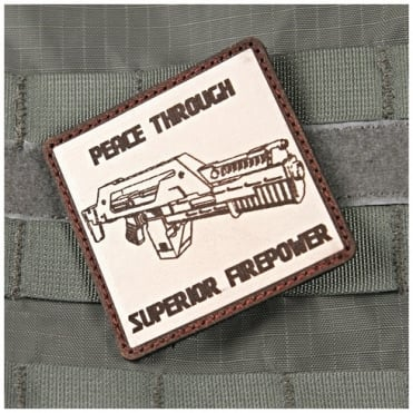 Violent Little Machine Shop VLMS Peace Through Superior Firepower Aliens Morale Patch