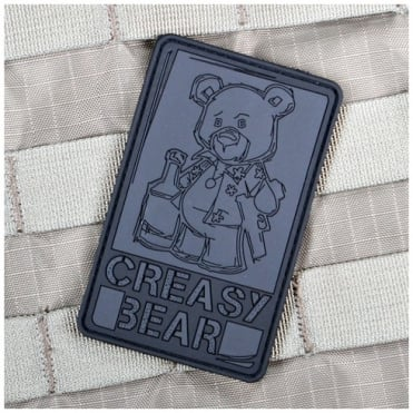 VLMS Creasy Bear Patch Blackout