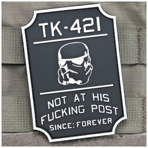 VLMS TK421 Star Wars Patch Black and White