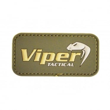 Viper Subdued Rubber Logo Patch - Olive Green