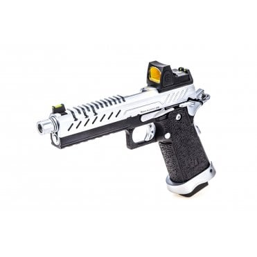 Vorsk HI CAPA 5.1 GBB Pistol - Black/Chrome with BDS