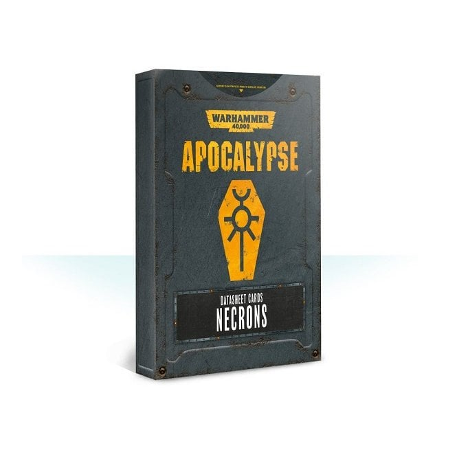 Games Workshop Warhammer 40,000 Apocalypse Datasheet Cards : Necrons