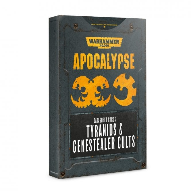 Games Workshop Warhammer 40,000 Apocalypse Datasheet Cards : Tyranids & Genestealer Cults