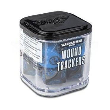 Warhammer 40,000 Wound Tracker Dice - Blue/Black