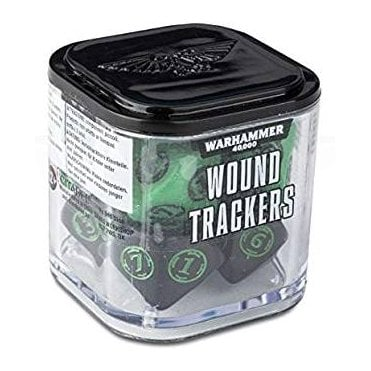 Warhammer 40,000 Wound Tracker Dice - Green/Black