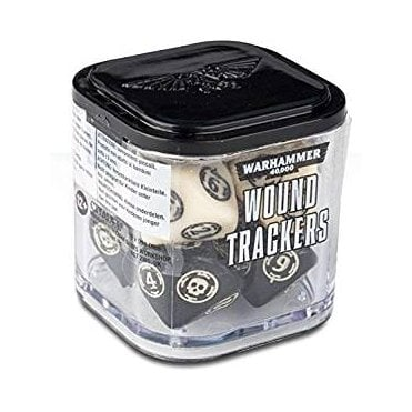 Warhammer 40,000 Wound Tracker Dice - Ivory/Black